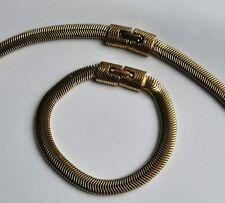 Trifari parure vintage anni '50 con collana e bracciale maglia serpente