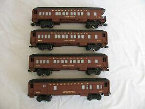 Lionel Trains O/O-27 Lighted Pennsylvania 4-Car Passenger Set #9510 9513 9514 EX