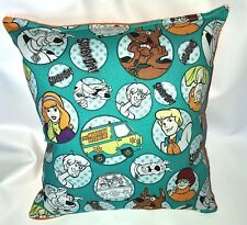 Scooby-Doo Pillow Teal Scooby Pillow Mystery Machine Shaggy HANDMADE In USA