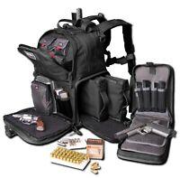 GPS Tactical Range Backpack 3-Gun Shooting Range Bag Pistol Travel Case BLACK-