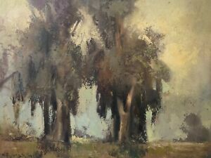 🔥 Antique California Plein Air Impressionist Oil Painting - W Frederick Seely