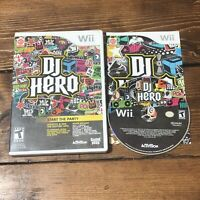 DJ Hero (Nintendo Wii, 2009)- Game Only