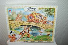 PUZZLE DISNEY LE CHAT BOTTE CONTE DE FEE 1991 VINTAGE  BOITE COMPLET MB 35 PCS
