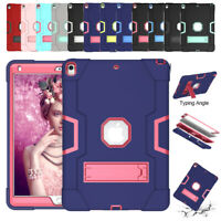 """Shockproof Rubber Hard Kickstand Case Cover For Apple iPad 9.7"""" 2018 Mini 5 Air"""