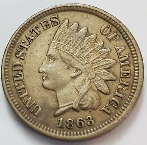 Uncertified 1863 Indian Cent G