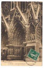 reims , la cathédrale  , porche de droite