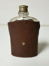 Vintage Flask leather wrap and cork lined cap