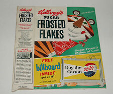 1956 Kelloggs Frosted Flakes Cereal Box w/ Train Type Plastic Billboard Offer