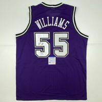 Autographed/Signed JASON WILLIAMS Sacramento Purple Jersey PSA/DNA COA Auto