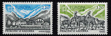 Timbres Europa Andorre N° 348 et 349 Neuf **