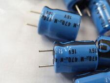 100x Philips PCB Condensador electrolítico 470uf 16v 10mm 13mm distancia 5mm