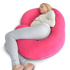 Full Body Pillow - PINK C Shaped Pregnancy Pillow by PharMeDoc