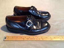 FLORSHEIM MEN'S LEATHER COMFORTECH MONK STRAP DRESS SHOES US 9.5 BLACK