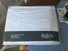 NEW PIUBELLE  King Size Matelasse Coverlet White 100% Cotton FLORAL