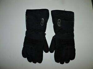 Motorcycle/Snowmobile Gloves OSI damdry Black Textile/Leather Large