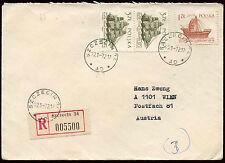 Polonia 1972 cubierta registrada a Austria #c 23409