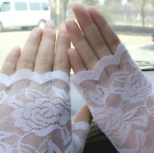 1 x Pair WHITE Finger-less Fish net Gloves (30% cotton, 70% polyester)
