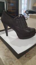Nueva marca Marrón Plataforma Zapatos de Cordones Talla 6