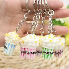 New Fashion Gifts Cute Women Girl Colorful Popcorn Shaped Key Chain Key Ring