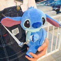 Cartoon Lilo & stitch blue Crossbody shoulder bag coin bag musette Kid Xmas Gift