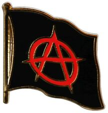 Anarchy Anarchie Flaggen Pin Fahnen Pins Fahnenpin Flaggenpin Anstecker