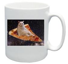 Lo spazio della pizza Carino Gatto Divertente Design Novità Regalo Tazza da caffè tè ufficio