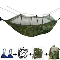 Parachute Hanging Swing Hammock Portable Outdoor Camping Indoor Sleeping Bed