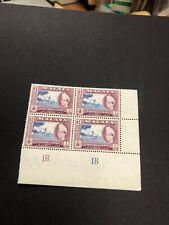 Malaya Trengganu 1957 $1 Plate 1B MNH Block of 4  Malaysia