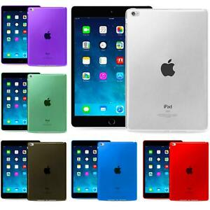 Protective Slim Transparent Silicone Cover Case For Apple iPad Models