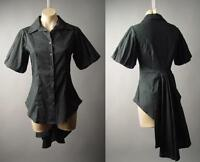 Sale Black Steampunk Goth Balloon Sleeve Bustle Tailcoat Top 183 mv Blouse S M L