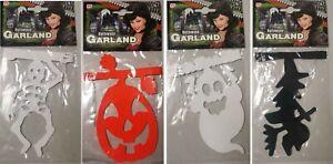 270cm Halloween Garland Bunting Decoration Pumpkin Skull Spooky Character Indoor