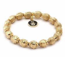 King Ice Mulit Head Gold Buddha Elastic Bracelet