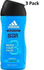 3 X ADIDAS poils du corps visage gel douche 250ml - Après SPORT (hydratant)