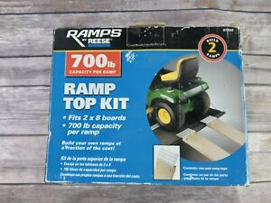 Reese 700 lb 8 inch Ramp Top Kit, Build Your Own Ramps! New, w/ Instruc.&...