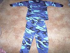 2 Piece Pajamas Blue Camo Pajamas Camo PJs Camo Set 2T Camo Shirt Camo Pants