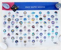 Vintage 2 Sided NASA Space Shuttle Missions Poster Manned Flight Awareness