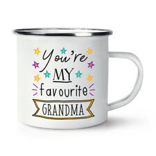 You'Re My Favourite Abuela Estrellas Retro Esmalte Taza - Divertido Mejor Nan