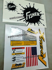 Fisher Minute Mount 2 Snow Plow Decals 8pc Kit for SD LD RD HT HD XtremeV NEW V