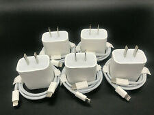 5X OEM 18W Fast Charger USB-C Power Adapter Cable for iPhone 11 Pro Max XR