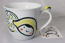 New GALLERY HANA Hand painting Porcelain Mug Lemon Chan from Japan