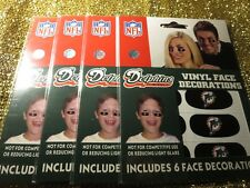 Miami Dolphins NFL Vinyl Eye Black face Decorations NEW (4)