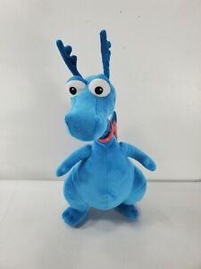 "Disney Talking Doc Mcstuffins ""Stuffy"" Plush Blue Dragon Cuddles  Hugs Toy 16"""