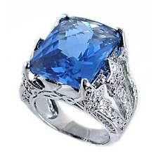 LONDON BLUE TOPAZ simulated CZ_SHOOTING STARS RING_SZ-5_925 STERLING SILVER