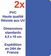 Stickers autocollants plaque immatriculation tout bleu Neutre Adhésif Voiture