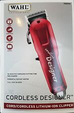 New Wahl Cordless Designer Lithium Ion Clipper 100-240 Volts #8591
