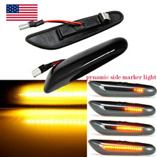 For BMW E90- E92 E81-E84 E60 E61 E88 LED Smoked Turn Signal Side Marker Lights