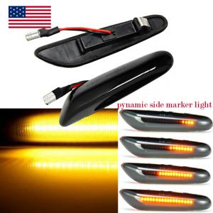 For BMW E90- E92 E81-E84 E60 E61 E88 LED Smoked Turn Signal Side Marker Lights