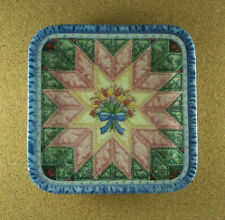 Plate Set of 3 Cherished Traditions Mary Ann Lasher Log Cabin Dresden Plate Star