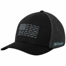 Columbia Fishing Hat PFG Mesh Flexfit Ball Cap / 183681 L/XL Fish Flag Fitted