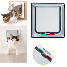 Magnetic Medium Pet Cat Puppy Dog Lock Lockable Safe Flap Door M Size 4 Way